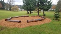One of our new outdoor learning spaces was installed today. A big thank you to our Parents and The City of Burnaby for helping us make this happen.